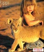 在非洲和动物一起生