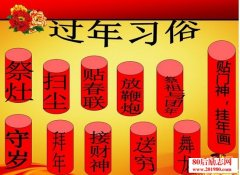 中国人春节过年的习