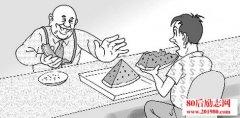 哲理小故事:富翁吃