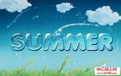 关于描写夏天的好词