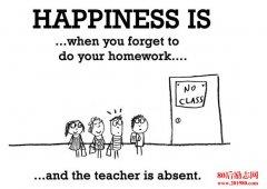 关于幸福的英语名言