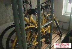 把共享单车藏宿舍的